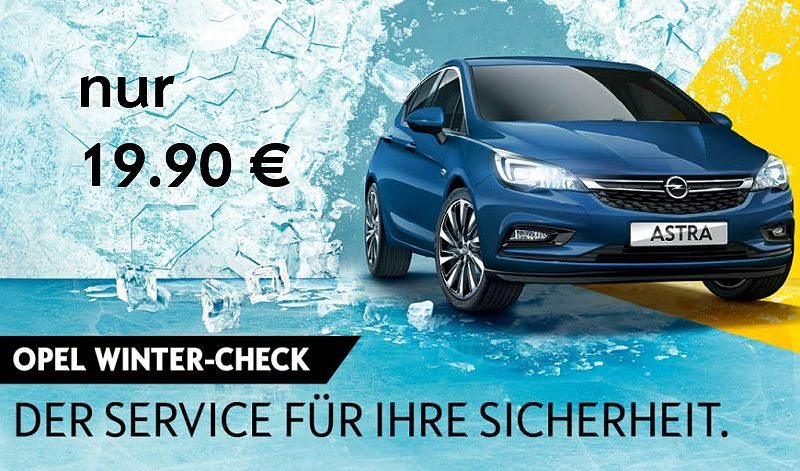 Opel Winter Check 19.90 Euro